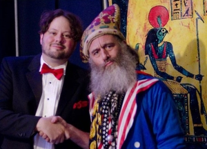 Joseph Thiebes and Vermin Supreme after the AC2012 debate